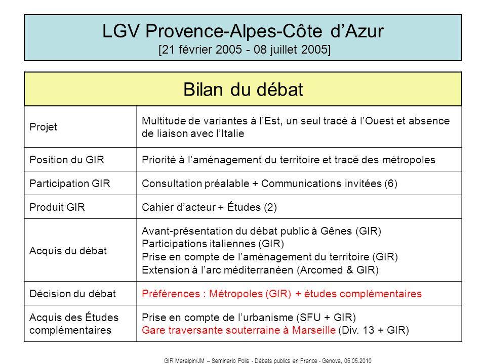 LGV Provence-Alpes-Côte d'Azur [21 février 2005 - 08 juillet 2005]